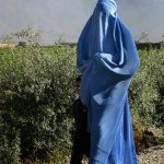 woman in burqa